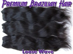 Virgin Brazilian Hair-Loose Wave 18inch 1B