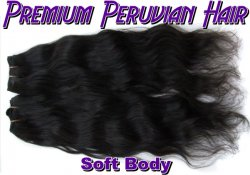 Virgin Peruvian Hair-Soft Body 18 inch 1B