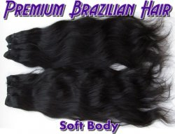 Virgin Brazilian Hair-Soft Body 18inch 1B